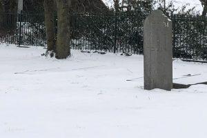 Sneeuw Joodse begraafplaats